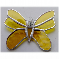 Butterfly Stained Glass Suncatcher Yellow