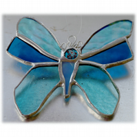 Butterfly Stained Glass Suncatcher Turquoise