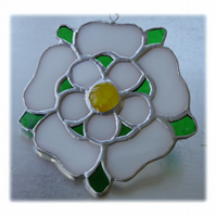 Yorkshire Rose Suncatcher Stained Glass 052