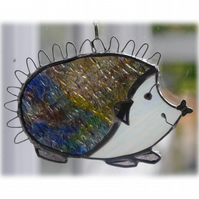 Hedgehog Suncatcher Stained Glass Handmade 056 Right