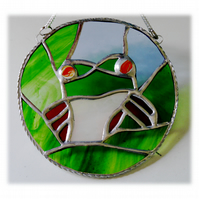 Tree Frog Suncatcher Stained Glass Ring Handmade