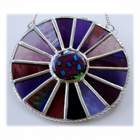 Summer Berry Colour Wheel Suncatcher Stained Glass 005
