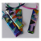 Patchwork Dichroic Treasure  Suncatcher Fused Glass 001 Pink Ribbon