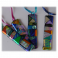 Patchwork Dichroic Treasure  Suncatcher Fused Glass 003 Blue Ribbon