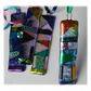 Patchwork Dichroic Treasure  Suncatcher Fused Glass 004 Green Ribbon