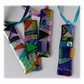 Patchwork Dichroic Treasure  Suncatcher Fused Glass 002 Turquoise Ribbon
