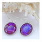 Handmade Fused Dichroic Glass Earrings 246 Plums