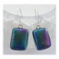 Handmade Fused Dichroic Glass Earrings 248  Matt