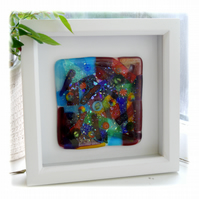Fairground Fused Glass Picture Box Framed