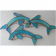 Dolphin Suncatcher Stained Glass Handmade 025 or 026