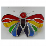 Butterfly Suncatcher Stained Glass Rainbow Handmade 095