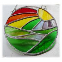 New Day Stained Glass Suncatcher Handmade Rainbow Ring 020