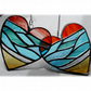 Sea Heart Suncatcher Stained Glass Beach Seaside Sunset Sky 035 036