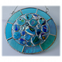 Rockpool Suncatcher Stained Glass Abstract Handmade fused 020