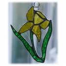 Daffodil Suncatcher Stained Glass Handmade Spring Flower 027