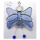 Fairy Angel Suncatcher Stained Glass Blue 023
