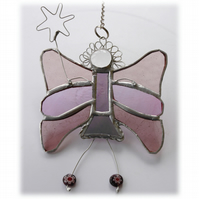 Fairy Angel Suncatcher Stained Glass Lilac 026