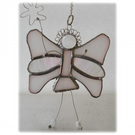 Fairy Angel Suncatcher Stained Glass White 027