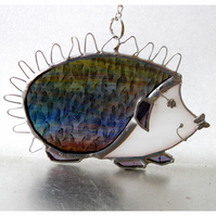 Hedgehog Suncatcher Stained Glass Handmade 056 or 057 Right