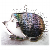 Hedgehog Suncatcher Stained Glass Handmade 058 or 059 Left