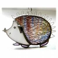 Hedgehog Suncatcher Stained Glass Handmade 060 or 061 Left
