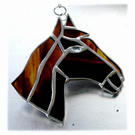 Horse Suncatcher Stained Glass Horsehead Brown 092