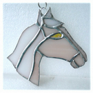 Horse Suncatcher Stained Glass Horsehead Caramel 093