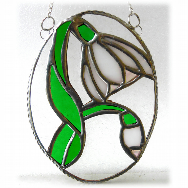 Snowdrop Stained Glass Suncatcher Flower 027