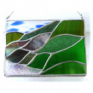 Scottish Mountains Panel Stained Glass Picture Landscape 010