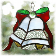 Bells stained glass Suncatcher  Handmade