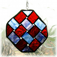 Celtic Stained Glass Suncatcher Handmade  Weave