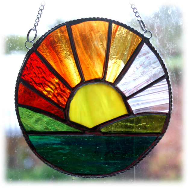 Sunrise Picture Stained Glass Suncatcher Sun R Folksy