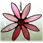 Dichroic Daisy Suncatcher Stained Glass Pink Flower