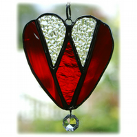 Diamond Heart Stained Glass Suncatcher Valentine