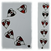 Heart String Mobile Suncatcher Stained Glass Window Decoration