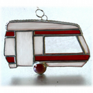 Caravan Suncatcher Stained Glass Classic Red 048