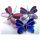 Trio of Butterflies Stained Glass Suncatcher 013