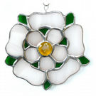 Yorkshire Rose Suncatcher Stained Glass 054