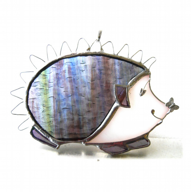 Hedgehog Suncatcher Stained Glass Handmade
