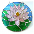 Waterlily Suncatcher Stained Glass 008 Pink