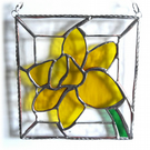 Daffodil Stained Glass Framed Suncatcher Spring Flower 022