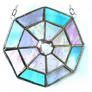 Octagon Suncatcher Stained Glass Crystal Abstract 008