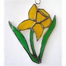 Daffodil Suncatcher Stained Glass Handmade Spring Flower 028