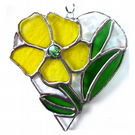 Primrose Heart Suncatcher Stained Glass 005