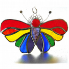 Butterfly Suncatcher Stained Glass Rainbow Handmade 102
