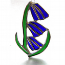 Bluebell Suncatcher Stained Glass Flower Blue 015