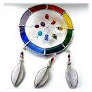 Dreamcatcher Stained Glass Suncatcher  Rainbow 023