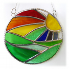 New Day Stained Glass Suncatcher Handmade Rainbow Ring 026
