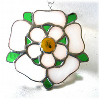 Yorkshire Rose Suncatcher Stained Glass 061