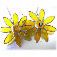 Sunflower Suncatcher Handmade Stained Glass
